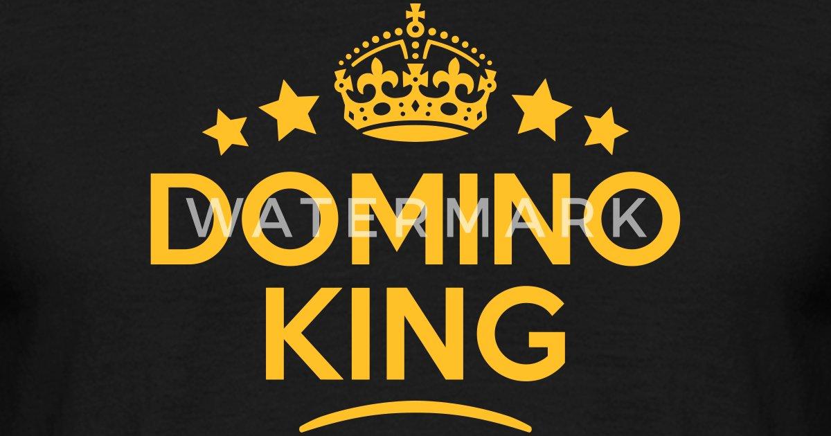 Domino King Keep Calm Style Crown Stars Van Teesontap Spreadshirt