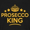 prosecco king keep calm style crown star - Men's T-Shirt