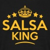 salsa king keep calm style crown stars - Men's T-Shirt