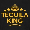 tequila king keep calm style crown stars - Men's T-Shirt