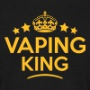 vaping king keep calm style crown stars - Men's T-Shirt