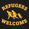 Refugees Welcome - Herre-T-shirt