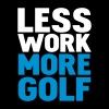 less work more golf - Herre-T-shirt