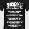 You Might Be A Mechanic If - Men's T-Shirt