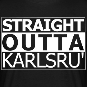 karlsruhe outta droite - T-shirt Homme
