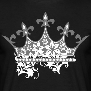 Crown with ornaments - Men's T-Shirt