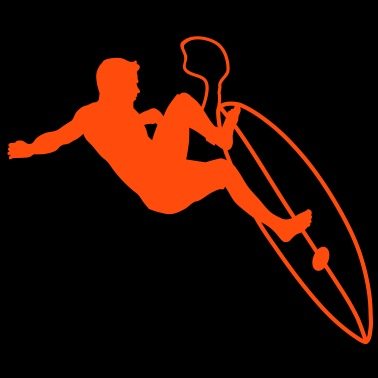 Estimado go surfing surfista tabla de surf Silueta Sudadera con ... ff953507e82