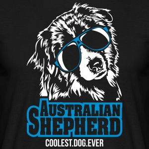 AUSTRALIAN SHEPHERD coolest dog - Men's T-Shirt