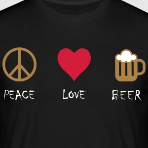 Peace Love Beer - T-skjorte for menn