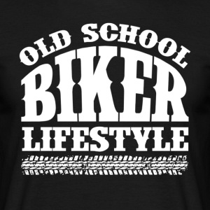 Old School Biker - T-skjorte for menn