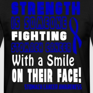 Mave Cancer Awareness! Fighting med et smil! - Herre-T-shirt