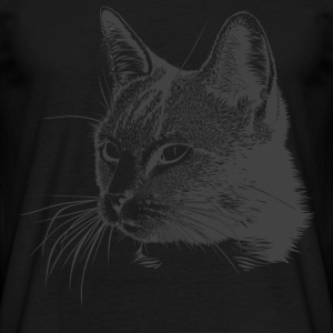 Cat Kitty Mitz chaton meow douce tête de chat - T-shirt Homme