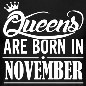 Queen November Birthday - Men's T-Shirt