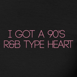 R & B type heart - Men's T-Shirt