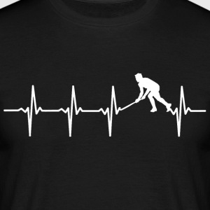 Your heart beats for hockey? - Men's T-Shirt