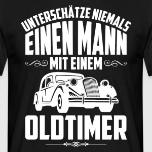 Never underline a man with a vintage car - Men's T-Shirt