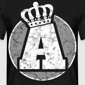 Stylish letter A with crown - Men's T-Shirt