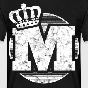 Stylish letter M with crown - Men's T-Shirt