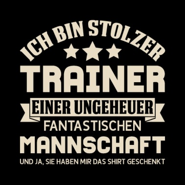 Trainer Des Jahres Männer T Shirt Schwarz