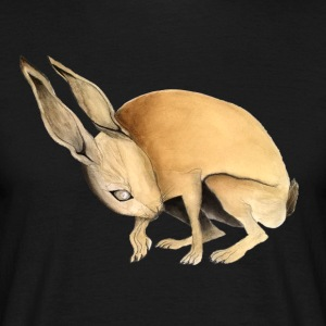 Hare. Scared. - Men's T-Shirt