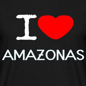 I LOVE AMAZON - Herre-T-shirt
