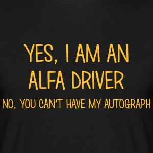 alfa driver yes no cant have autograph