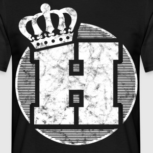 Stylish letter H with crown - Men's T-Shirt