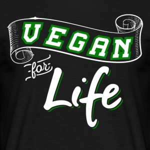 Vegan For Life - T-shirt Homme