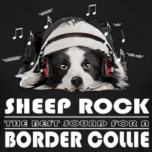 BORDER COLLIE SHEEP ROCK - Men's T-Shirt