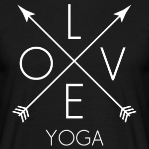 LOVE Yoga wit - Mannen T-shirt