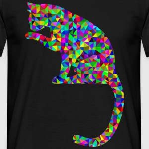 Prismatic cat - Men's T-Shirt