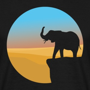 Sunset Elephant - Herre-T-shirt