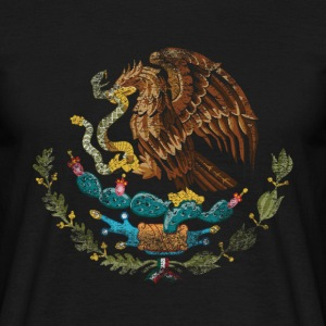 Mexicanske Coat of Arms Mexico Symbol - Herre-T-shirt