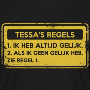 Tessa regler. Original gave. - T-skjorte for menn