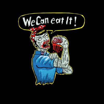 we can eat it - zombie woman