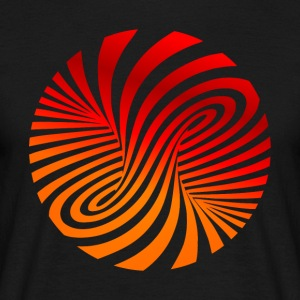 psychedelic optical type swirl orange 70s style fu - Men's T-Shirt
