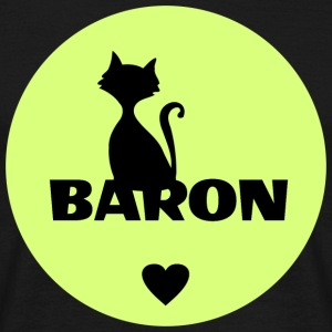 Baron Cats Navn - T-skjorte for menn