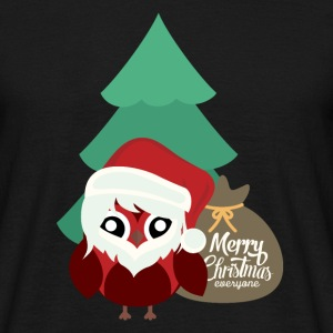 a cute christmas santa owl