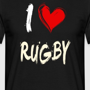 I love rugby - Men's T-Shirt