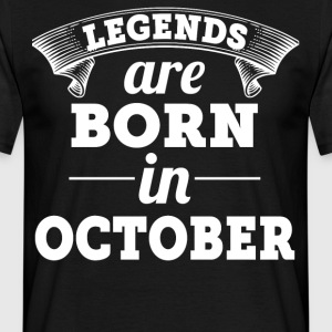 Legends are born in December gift shirt - Men's T-Shirt