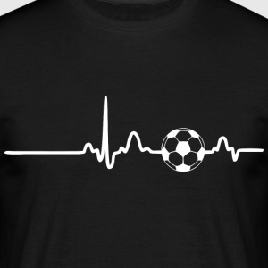 ECG HEART LINE SOCCER white - Men's T-Shirt