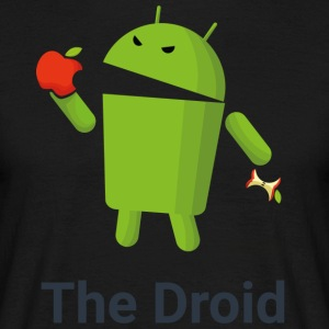 The Droid eats apple - Maglietta da uomo