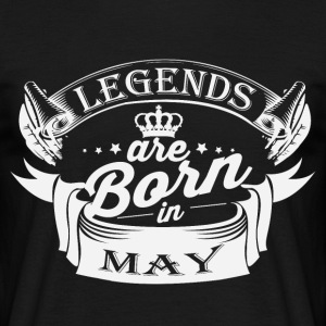 Legends er født i maj - Herre-T-shirt