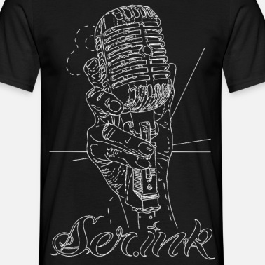 Vintage Microphone Tattoo Men\'s T-Shirt | Spreadshirt