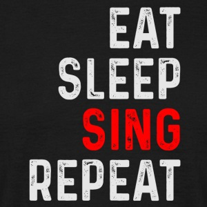 SING REPEAT - T-skjorte for menn