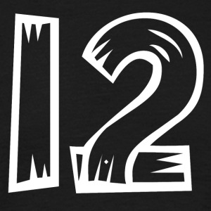 Number 12 Twelve Twelve Woodoptics HATRIK DESIGN - Men's T-Shirt