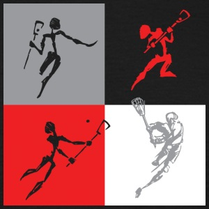 Lacrosse Players - T-shirt Homme