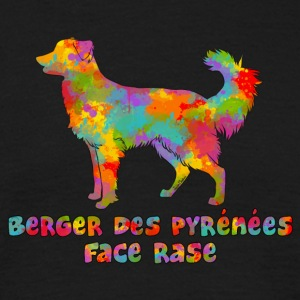 Shepherd of the Pyrenees Face Rase Multicolore - Men's T-Shirt