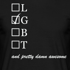 Mens / Gay and pretty damn awesome - Herre-T-shirt