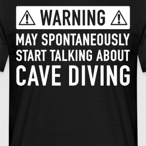 Funny Cave Diving gaveide - T-skjorte for menn